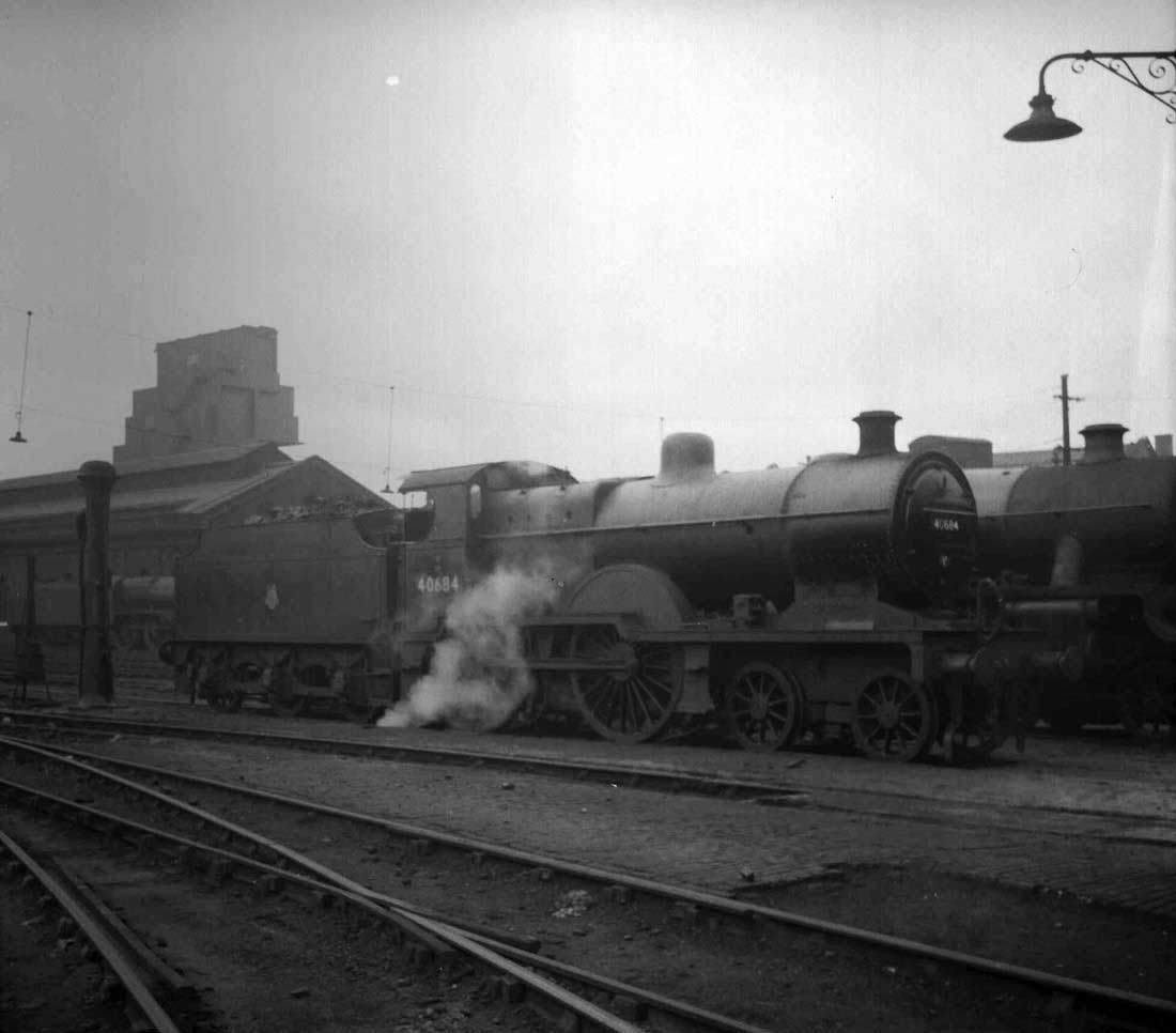 Birkenhead Bank Hall Edge Hill 27a 8a 8h 9f Bidston Dock Shotton Simple Steam Engine Besides Diagram On With Reference To 40684 Here She Is Standing No7 Pit Road Outside The Shed Leads Side Roads Are Visible In Foreground
