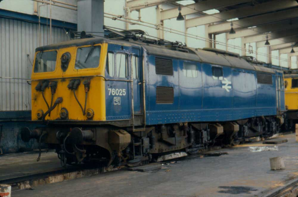 A Portrait Of 76025 At Reddish Depot On February 24th 1980